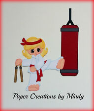 Karate Girl sports premade paper piecing for scrapbook page album border