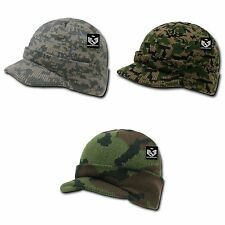 Military Camouflage Camo Beanie Beanies GI Jeep Knit Watch Cap Caps Hats RapDom