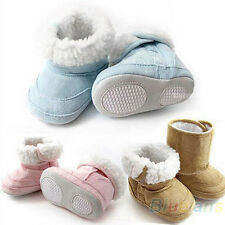 Hot Baby Boys Girls Shoes Toddler Winter Snow Boots 3 Colors 6-24 Months B75U