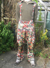 Swiss Army Alpenflage Trousers Camo Combat Over Dungarees With Braces Military