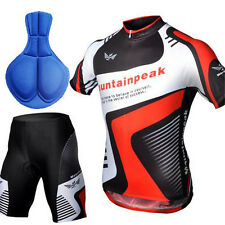 New Mens Bicycle Cycling Outdoor Wear Sports Jersey Top+Shorts Pants Sz M-2XL