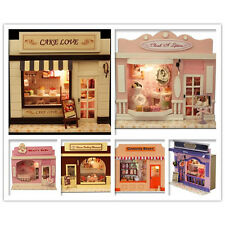 Handmade Wooden Dollhouse Dolls House DIY European Miniature Shop - 12 Designs