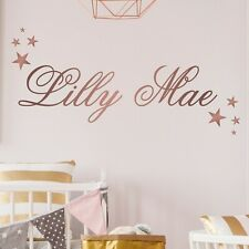 PERSONALISED fancy posh name with stars | WALL STICKER | KIDS ANY NAME | N26