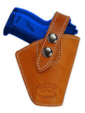 Barsony Gun OWB Saddle Tan Leather Belt Clip Holster Walther Sig Mini 22 25 380