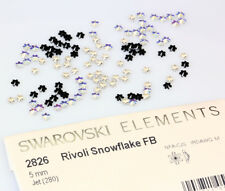 SWAROVSKI ELEMENTS 2826 Rivoli Snowflake Flat Back - Many Colors & Sizes