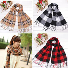 1PCS Vogue Women Men Plaid Classics Checkered Long Scarf Soft Wrap Shawl Stole
