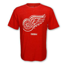 Detroit Red Wings Winged Wheel Logo Tri-Blend T-Shirt by CCM