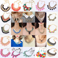 Elegant Charm Jewelry Womens Chain Sexy Choker Chunky Statement Bib Necklace