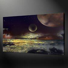 SOLAR SEA PREMIUM QUALITY CANVAS PRINT PICTURE WALL ART DESIGN FREE UK P&P