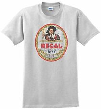Regal BeerT-shirt. 1950' Miami, New Orleans. 4 Colors. S-3XL Free Ship to USA