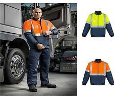 Syzmik Day Night Flying Jacket Quilted ZJ351 Hi Viz S-5XL,Tradie ,Work Wear,Men