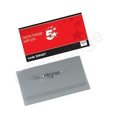 Plastic Name Visitor ID Badges with Pin and Inserts with Choice of Quantity