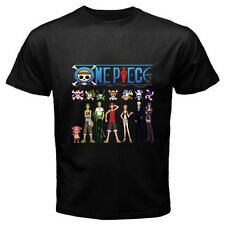 New ONE PIECE *Luffy and Frieds Anime Manga Men's Black T-Shirt Size S to 3XL