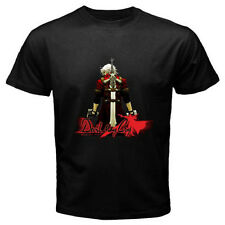 New DEVIL MAY CRY Anime Cartoon Video Game Men's Black T-Shirt Size S to 3XL