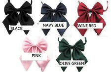 HIGH QUALITY Women Girl Sailor School Pre-tied Satin Bowtie Bow Neck Tie Cravat