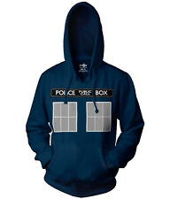 Doctor Who Tardis Police Box Hoodie New