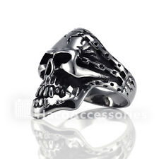High Quality Men's 316L Stainless Steel Skull Ring  SIZE  9 11 12 13 mssr13
