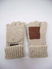 MAJESTIC ORIGINAL RAGGWOOL FINGERLESS GLOVE WITH HOOD LEATHER PALM THINSULATE
