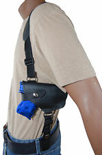 NEW Barsony Black Leather Horizontal Shoulder Holster for S&W M&P Shield w/LASER