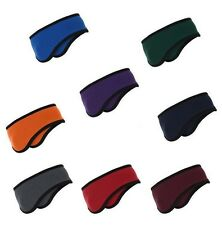 Port Authority Two-Color Solid Fleece Ear Muff Headband Ear Warmer NEW Warm C916