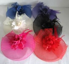 New Womens' Lace Net Feather Flower Fascinators Hair Clips Headband Party Veils