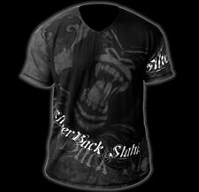 NEW & UNIQUE TEE STYLE T-SHIRT SILVER BACK .GREAT FOR WORKOUT OR CLUB WEAR !!