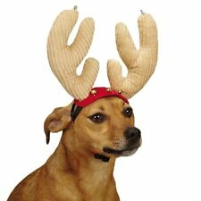 Jolly Jingle Antlers for Dogs Bells Blinking Lights Adjustable Straps Christmas