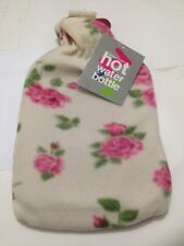 LARGE SOFT HOT WATER BOTTLE W FLEECE / PLUSH FAUX FUR / ANIMAL COVER