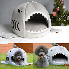 Hot Cute Cozy Soft Warm Shark Mouth Pets House Bed For Dog Cat Puppy S/M Size
