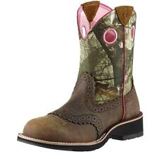 Ariat Women's Fatbaby Cowgirl Cowboy Western Boots Distressed Brown 10006854