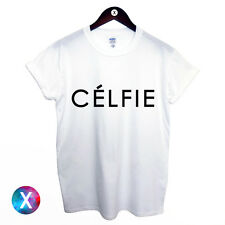 CELFIE PRINTED T SHIRT / FASHION PRINT MENS WOMENS GIRLS SWAG HIPSTER TUMBLR TOP