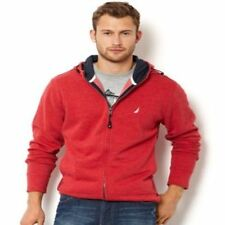 Nautica Sweater Hoodie Barley Full Zip Nautica Red MSRP - $89.50