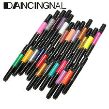 12/24/36/48 Color Varnish Polish Liner 2 Way Brush Nail Art Tip Painting Pen Set