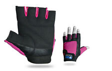 DAM  Leather Weight lifting Gym Gloves Real Leather New for Women's Pink Black