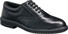 Mens New Black Leather Steel Toe Cap Safety Work Office Brogues Shoes Formal