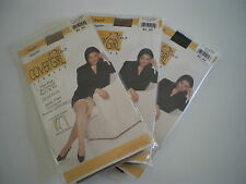 3 pair Cover Girl Plus Legwear Hosiery Queen Size Legging  1x A  2x B 3x C 4x D