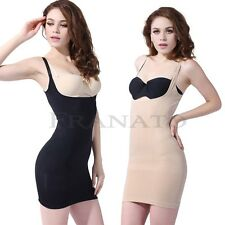Hot Sex Full Slip Body Shaper Seamless Open Cup Bustier for Skirt Dress S M L XL