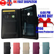 FLIP WALLET LEATHER CASE COVER & FREE SCREEN Guard & Stylus FOR Nokia Lumia 520