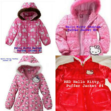 * NWT NEW GIRLS PINK Hello Kitty PRINT Belted Jacket WINTER COAT 4T