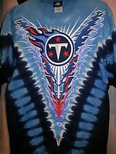 TENNESSEE TITANS  Tie Dye V Dye T-Shirt Licensed NFL TEAM APPAREL