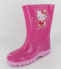 GIRLS SLIP ON PINK HELLO KITTY WELLINGTON BOOTS