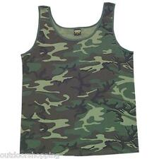 WOODLAND CAMOUFLAGE USA MADE TANK-TOP – Summer, Physical Training