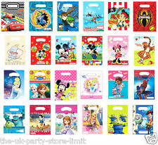 6 Pack Childrens Birthday PARTY LOOT BAGS Disney Themes Girls Boys Party