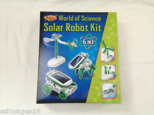 New 6 in 1 Solar Power DIY Educational Kit Toy Boat Fan Car Robot Puppy Windmill