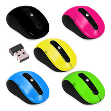2.4GHz Wireless Cordless Optical Scroll Computer PC Mouse USB Dongle 5 COLORS