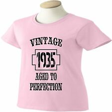 80th Birthday T-Shirt 80 Years Old Vintage 1934 Aged To Perfection Womens