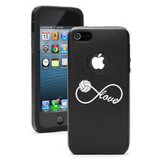 For iPhone 4 4S 5 5S 5c Aluminum Silicone Case Infinite Infinity Love Volleyball