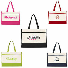 Personalized Tote Bag Monogram Bride Bridal Bridesmaid Gift Wedding Teacher