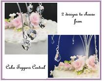 Wedding Cake Topper, Hanging Glass Crystal Spray Topper, Cake Jewellery