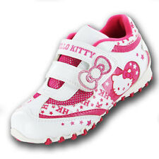INFANT JNR GIRLS HELLO KITTY TRAINERS - WHITE / PINK - SIZE 7 8 9 10 11 12 13 1